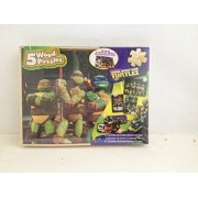 Teenage Mutant Ninja Turtles 5 Wood Puzzles with Storage Box
