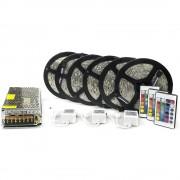 Kit complet 30m banda RGB 30SMD 5050/m telecomanda 44 taste ManiaLight