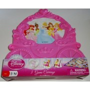 Disney Princess Carriage 3 Game Collection - Checkers, Old Maid, Go Fish