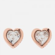 Ted Baker Women's Han: Swarovski Crystal Heart Earrings - Rose Gold/Crystal