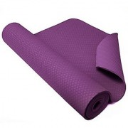 Strauss Eco-Friendly Single Texture TPE Yoga Mat 6 mm (Purple)