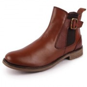 Fausto Men's Tan Leather High Ankle Outdoor Boots