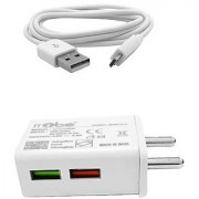 RRTBZ TurboPower 2.4A Fast Travel Charger with Micro USB Cable Mobile Charger Power Adapter Wall Charger -White