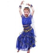 Astage Big Girls` Royal Blue L Belly Dance Carnival Dancing Dress