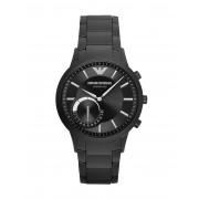 メンズ EMPORIO ARMANI CONNECTED Hybrid Smartwatch スマートウォッチ ブラック