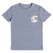 Quiksilver - tričko KR BROKEN LEASH washed blue Velikost: M