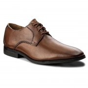 Обувки CLARKS - Gilman Lace 261297727 Dark Tan Leather