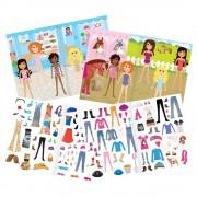 Carte pentru fetite abtibilduri Galt Fashion, 20 de pagini, 4 ani+