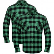 vidaXL 2 db kockás férfi ing méret L zöld-fekete