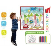 Smart Picks City Traffic Colouring Mat with Colour Pens, Multi Color