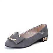 Dames Sandalen Comfortabel PU Lente Zomer Formeel Comfortabel Lage hak Zwart Grijs Amandel 2,5 - 4,5 cm