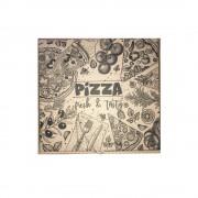 Cutii Pizza Natur, Model Pizza Fresh & Tasty, Dimensiune 28x3.5x28 cm, 100 Buc/Bax - Ambalaje din Carton
