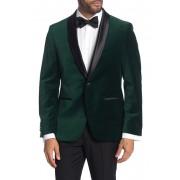 SAVILE ROW CO Emerald Shawl Collar One Button Velvet Suit Separate Sport Coat EMERALD