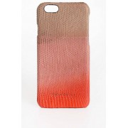 Rick Owens Cover per iPhone 6 in Pelle DEGRADE CORAL taglia Unica