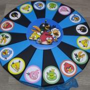 Angry Birds plavo - crna torta od kartona