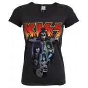 tricou stil metal femei Kiss - BAND SHOT DISTRESSED - AMPLIFIED - AV601KBD