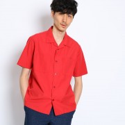 【SALE 50%OFF】タケオ キクチ TAKEO KIKUCHI シルク混オープンカラーシャツ [ メンズ シャツ ] (レッド)
