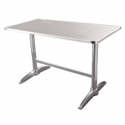 Stainless Steel Pedestal Table 1200 L x 600 D
