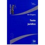 Texte juridice - Ion Dogaru