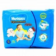 Fraldas Descartáveis Huggies Tripla Proteção Infantis Turma da Mônica Jumbo Tamanho Grande Com 28 Unidades