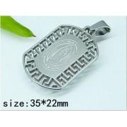 Медальон Богородица изработен от медицинска стомана 316L (DCP22773)