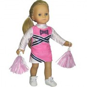 Doll Cheerleader Outfit Pink Cheerleader Doll Clothes/Clothing Fits 18 Inch American Girl Dolls