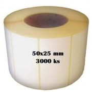 Etikety na roli 50x25/3000ks