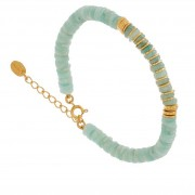 Une A Une Bracelet surfeur pierres fines (amazonite), Une A Une Une A Une