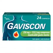 RECKITT BENCKISER H.(IT.) SpA GAVISCON*24 COMPRESSE MENTA 250+133,5MG