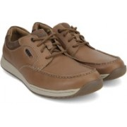 Clarks Javery Time Tan Leather Sneakers For Men(Tan)