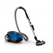Aspirator cu sac Philips Performer Active FC8575/09, AirflowMax, 650W, 4l, TriActive+, Duză pentru podele dure, Albastru