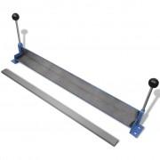 vidaXL Mașină manuală de îndoit plăci din oțel 760 mm