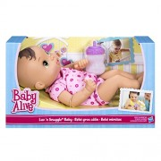 Hasbro Baby Alive Luv N Snuggle Baby Doll Brunette With Blanket