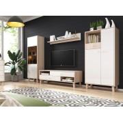 IDZ Moderní bytový nábytek Severin, sonoma/bílý lesk