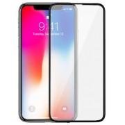 Folie Protectie Sticla Securizata Zmeurino Full Body 3D Curved, fata/spate, pentru Apple iPhone X (Alb)