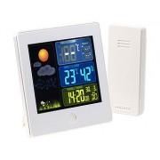 Station météo & horloge radio-pilotée avec capteur extérieur FWS-260 - Blanc