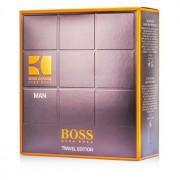 Boss Orange Man Coffret: Eau De Toilette Spray 100ml/3.3oz + A/S Balm 50ml/1.6oz + Shower Gel 50ml/1.6oz 3pcs Boss Orange Man Комплект: Тоалетна Вода Спрей 100мл + Балсам след Бръснене 50мл + Душ Гел 50мл