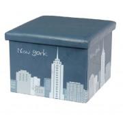 Design tárolós ülőke, 48x32, New York