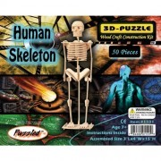 """Puzzled Human Skeleton 3D Jigsaw Puzzle (50-Piece), 3 x 4 x 15"""" by Puzzled"""