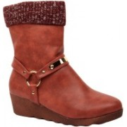 Foot Candy Boots For Women(Red)