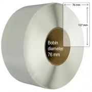 Etiketter på rulle, självhäftande, högblanka för bläck, 76 x 127mm, 960 st