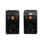 Boxe active Temeisheng RMS W 130 bluetooth USB intrare 2 microfoane + Casti cu fir fara microfon stereo 15 mW