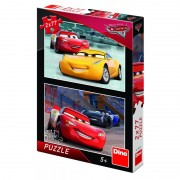 Puzzle 2 in 1 Cars 3 Cursa cea mare, 77 piese, 4-8 ani