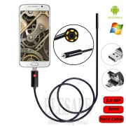 8mm 2.0MP 2M Hard Cable 2-In-1 Android Endoscope Camera Waterproof Borescope Inspection Camera For Android Phone Samsung