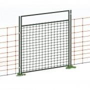 VOSS.farming Tür für Elektrozaunnetze, elektrifizierbar, Komplettset, 105cm