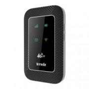 Рутер Tenda 4G180, 3G/4G, мобилен, 150Mbps, 2.4(150 Mbps), Wireless N, 1x SIM card, 1x microSD card, 1x microUSB, 1x SIM слот, 2x вътрешни антени, 2100mAh батерия