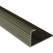 Bagheta dreapta din aluminiu eloxat 10mm bronz LED105.92