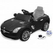 Електрическа кола Mercedes SLS AMG, черна, 6V с дистанционно
