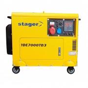 Generator de curent electric Stager YDE7000TD3, 5.7 kVA, trifazat, diesel, pornire electrica