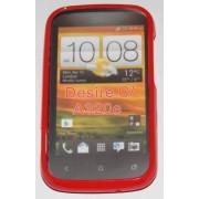 Силиконов гръб ТПУ за HTC Desire C A320e Червен
